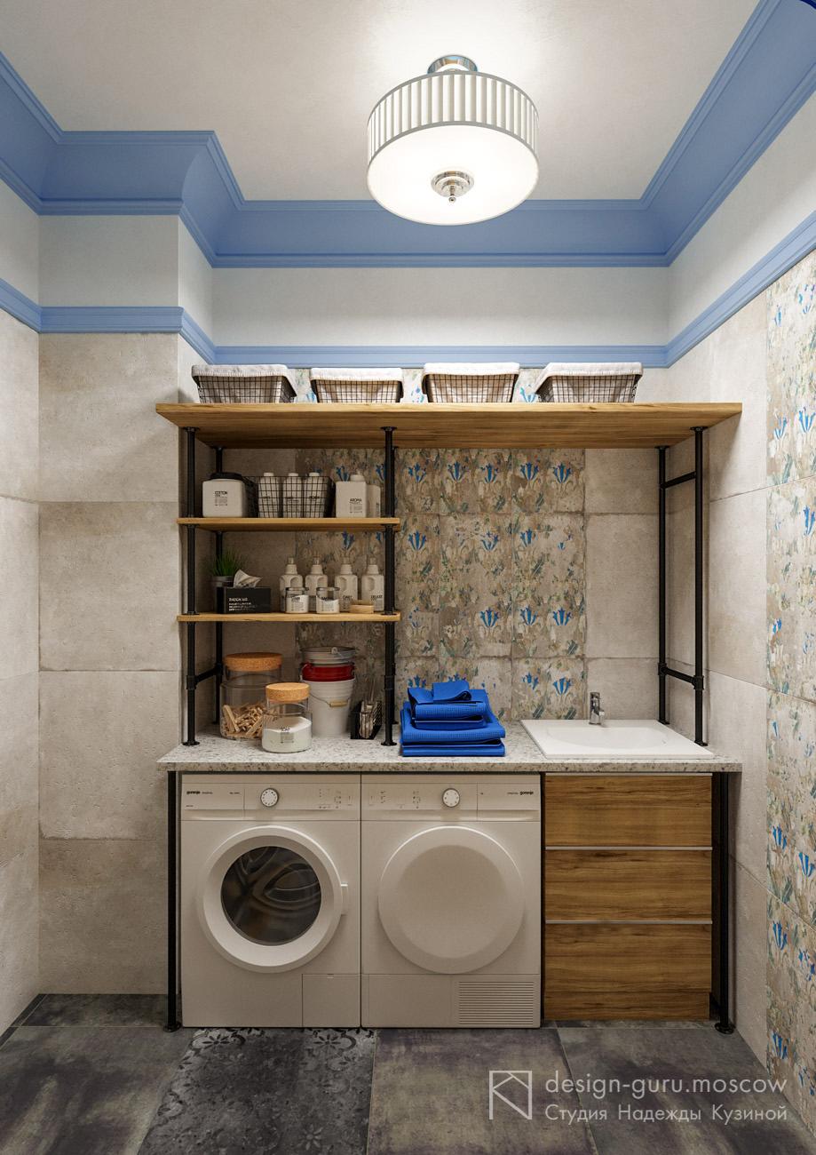 Дизайн интерьера постирочной комнаты в загородном доме