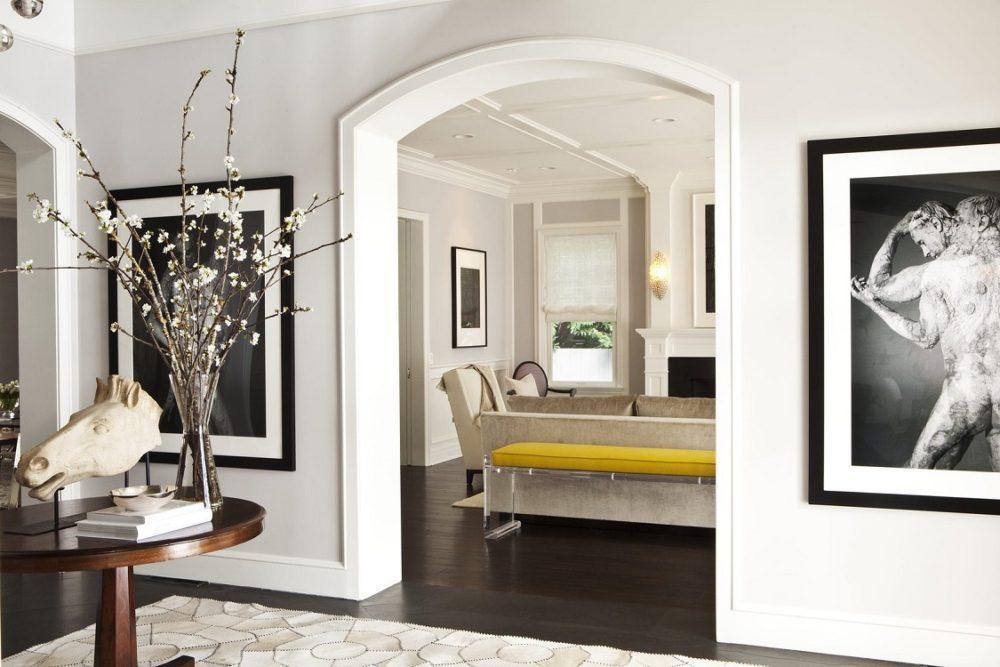 Пример обрамления проема между комнатами