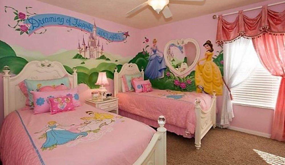 Детская комната на тему диснеевских принцесс