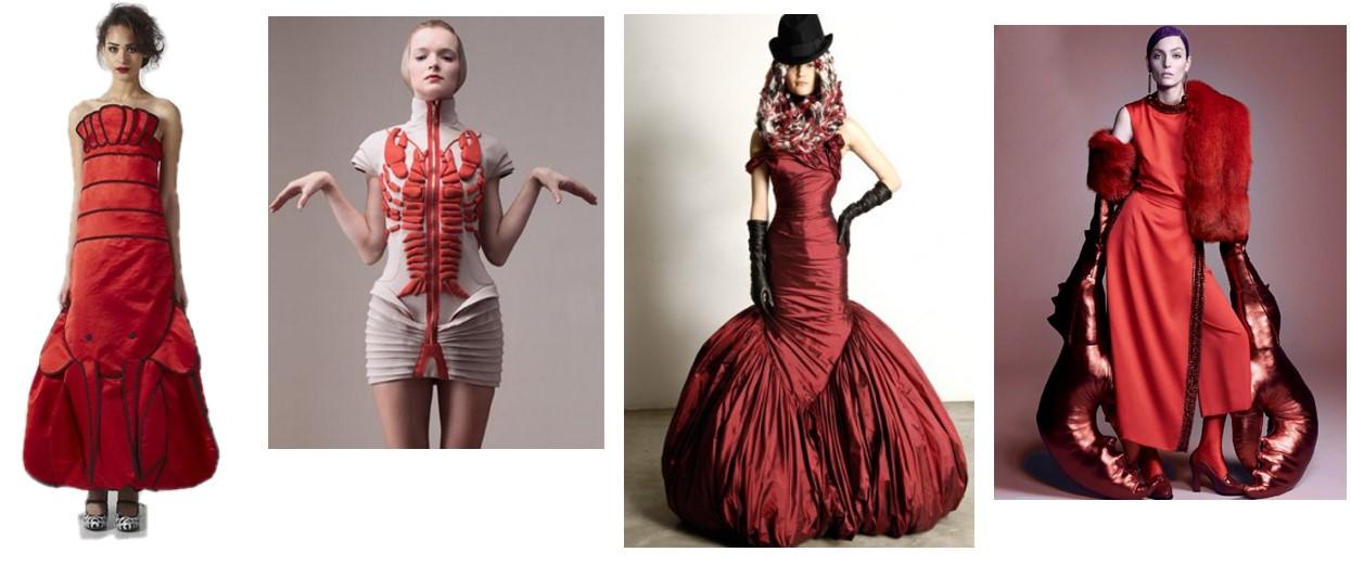 Дизайнерские платья с лобстерами