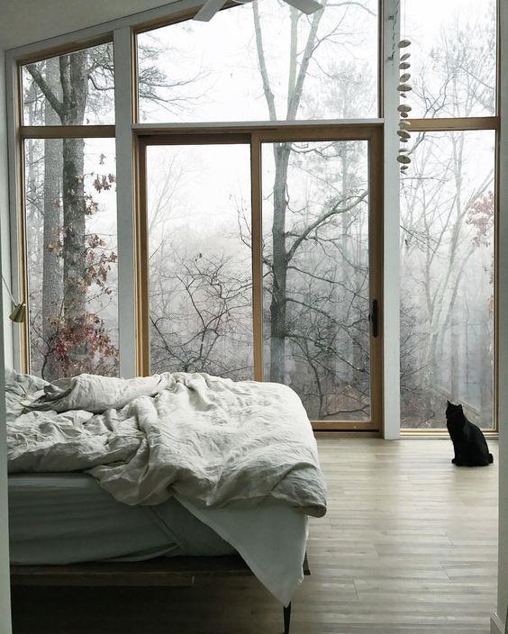 Спальня в стиле слоу ливинг