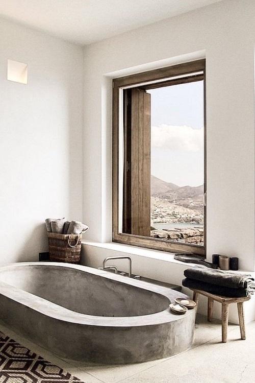 Ванная в стиле slow living