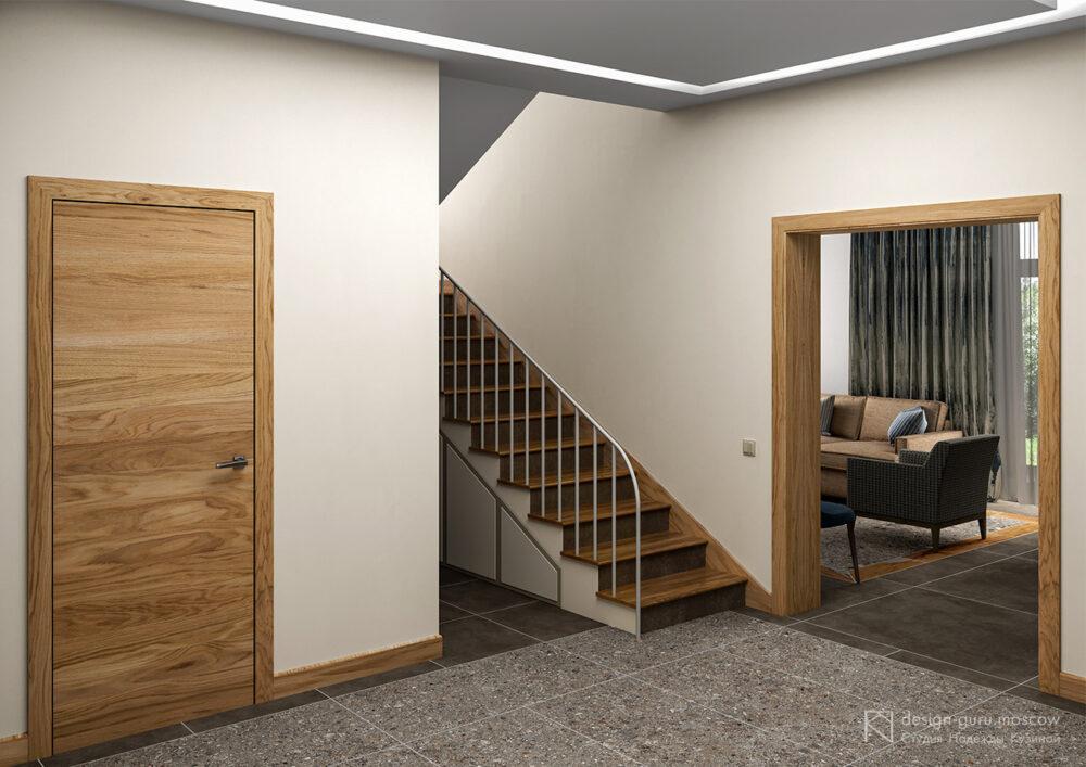 Дизайн холла первого этажа