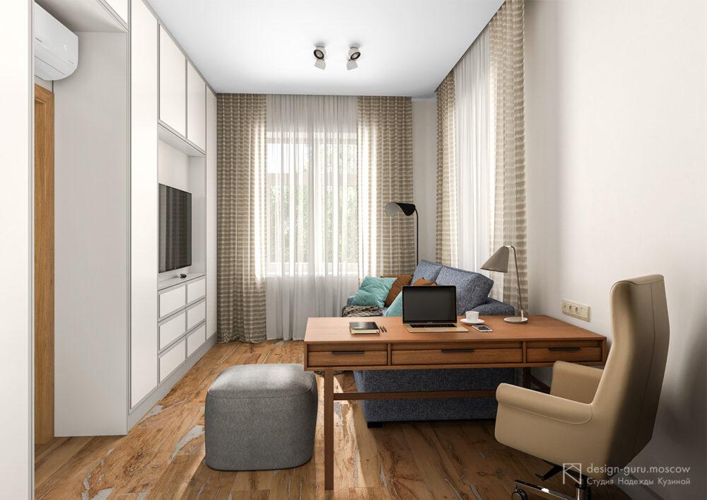 Дизайн рабочего кабинета в загородном доме